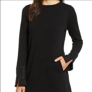 NIC+ZOE   Black Studded LS Sweater With Pockets M
